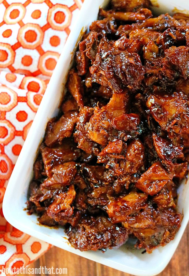 Our slow cooker pork is juicy, sweet, spicy and smokey. Slow cooker and oven method. Everything you want in a BBQ pork. Perfect for any time of year!
