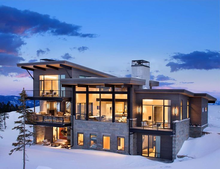 Modern Mountain Home Boasts Chic And Stylish Living In Montana