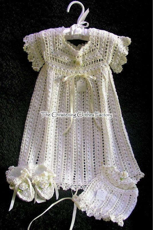 Free Crochet Pattern Christening Dress - Crocheting Patterns, Knit