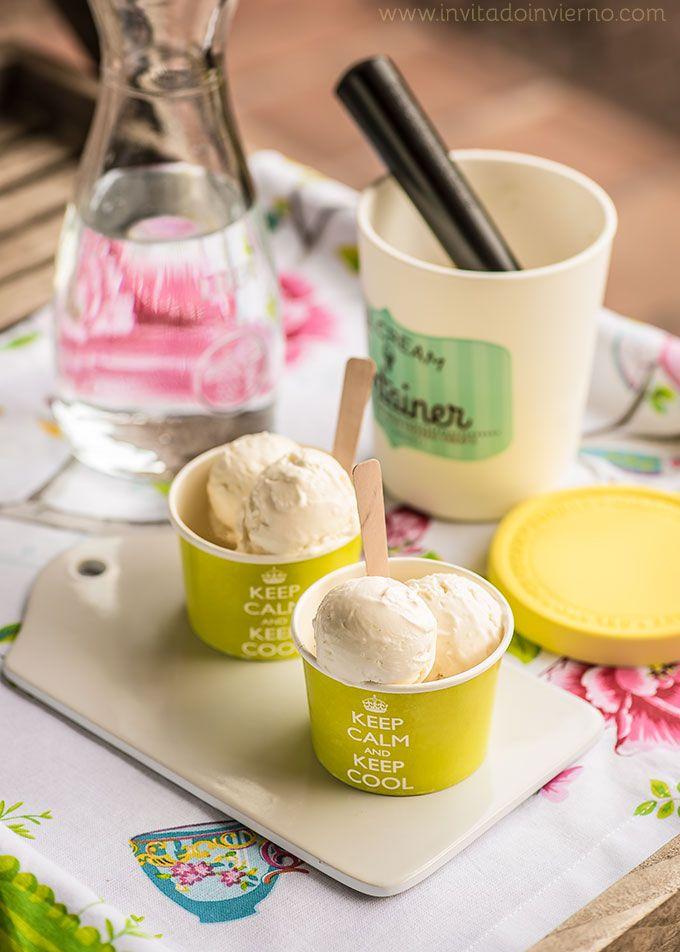 #helado de creme fraiche #receta #icecream