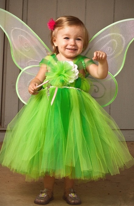 Tinkerbell Tutu Dress Halloween Costume Does by BlissyCoutureTutus,