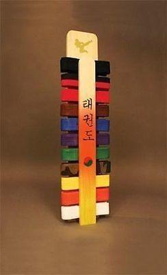 Taekwondo Handmade Belt Display Rack Korean Lettering - Martial Arts - Karate Taekwondo Martial Arts Accessories