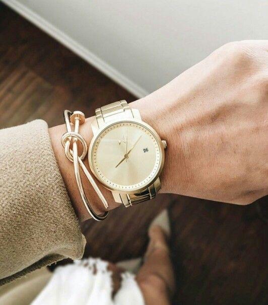 Nyhed, MVMT All Gold, smukt og elegant dameur fra www.watchfelt.dk