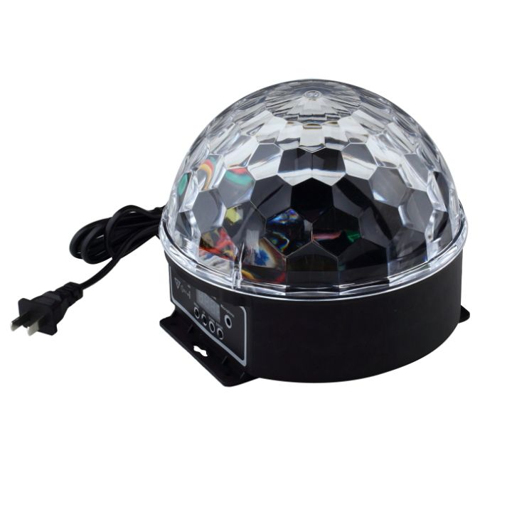 Elegant  kleuren led crystal magic ball effect licht disco dj stage party laser led sound activated disco licht goedkope led bal