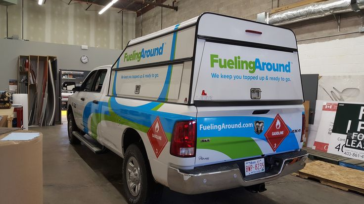 Awesome truck wrap by Speedpro Signs Calgary NE using Avery 1005. Eye-catching!
