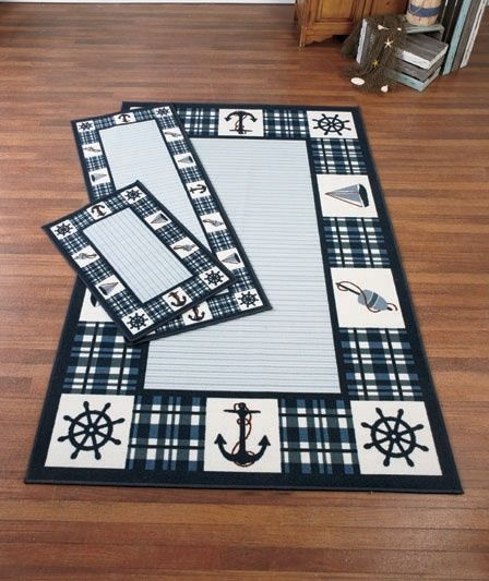 Wonderful Nautical Themed Rug Collection Area Rug Or Runner Accent Carpet Set
