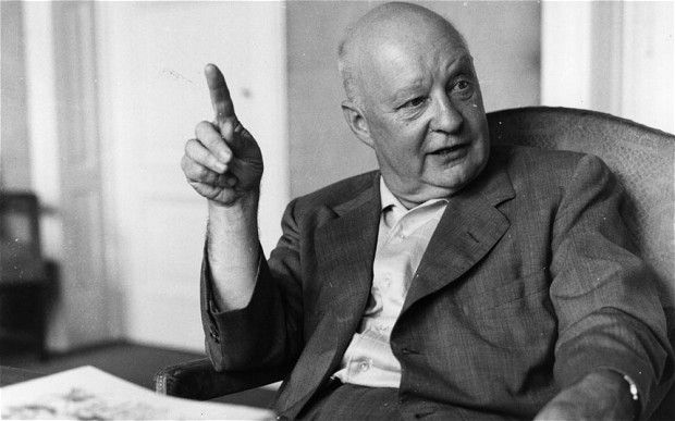 German composer Paul Hindemith (1895 - 1963)