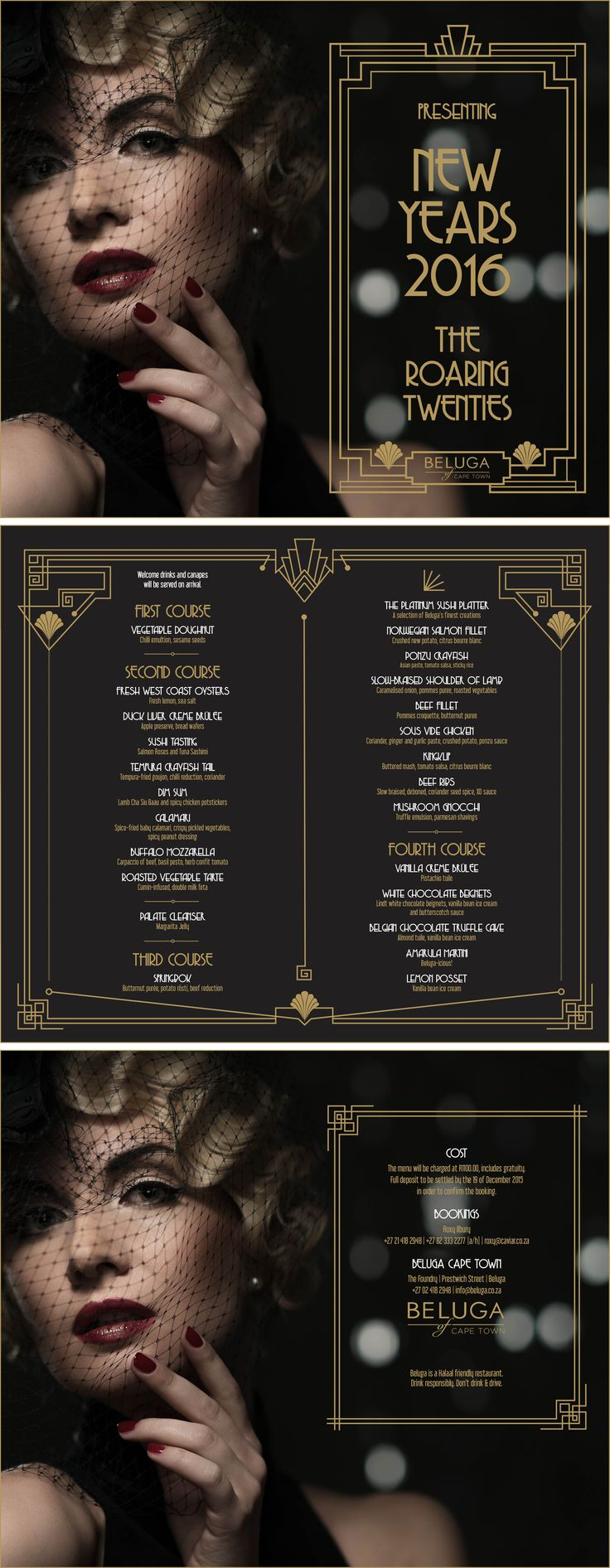 Beluga Cape Town New Years Eve 1920s Themed Event Invitations