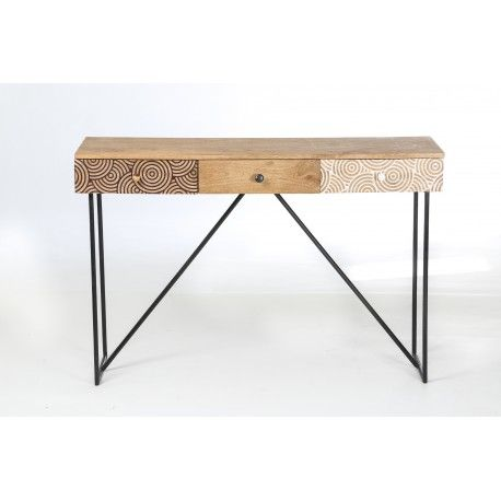 1000 ideas about console bois metal on pinterest table for Table tv bois