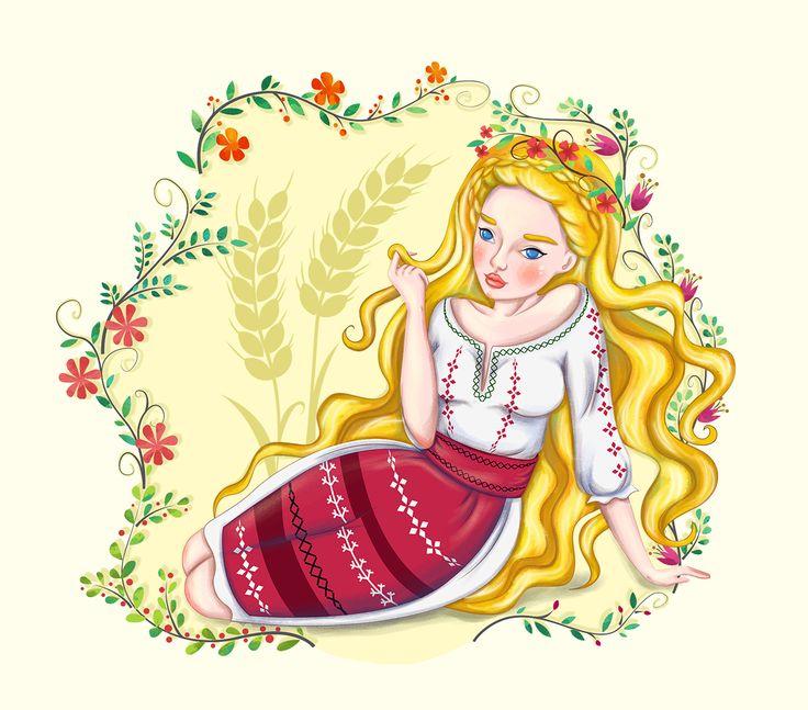 Ileana Cosanzeana is the representation of feminine beauty in Romanian folklore. Ileana Cosanzeana by Daniela Sosa