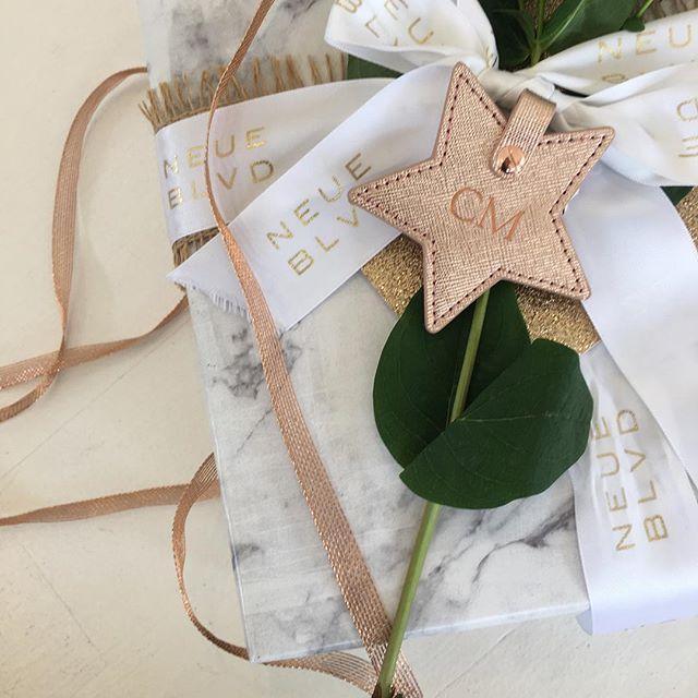 It's beginning to feel a lot like Christmas 🎄🎁 #neueblvd #gifts #giftideas #marblewrappingpaper #monogramming #personalised #secretsanta #christmas #christmas2016