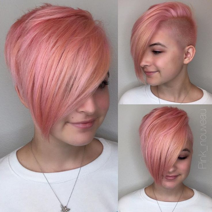 short pixie haircuts with long bangs