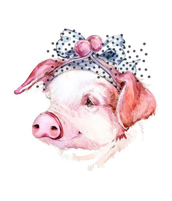рисунок новогодней свинки открытка зоне