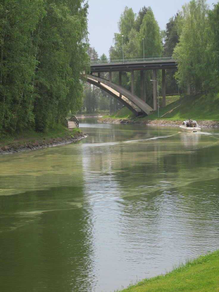 canal in Vääksy, Finland 2014 photo by Tiina Litukka