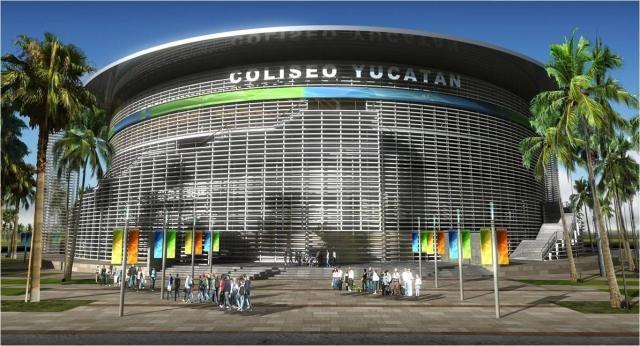 Anuncian construcción de Coliseo Yucatán en 2012