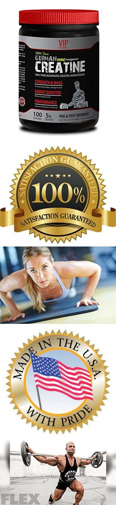 Lean muscle builder - PURE GERMAN CREATINE POWDER - MICRONIZED CREATINE MONOHYDRATE CREAPURE 500G 100 SERVINGS - Creatine monohydrate