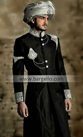 M673 London Sherwanis, Traditional Sherwani UK, Beautifully Crafted Wedding Sherwanis East London UK Men