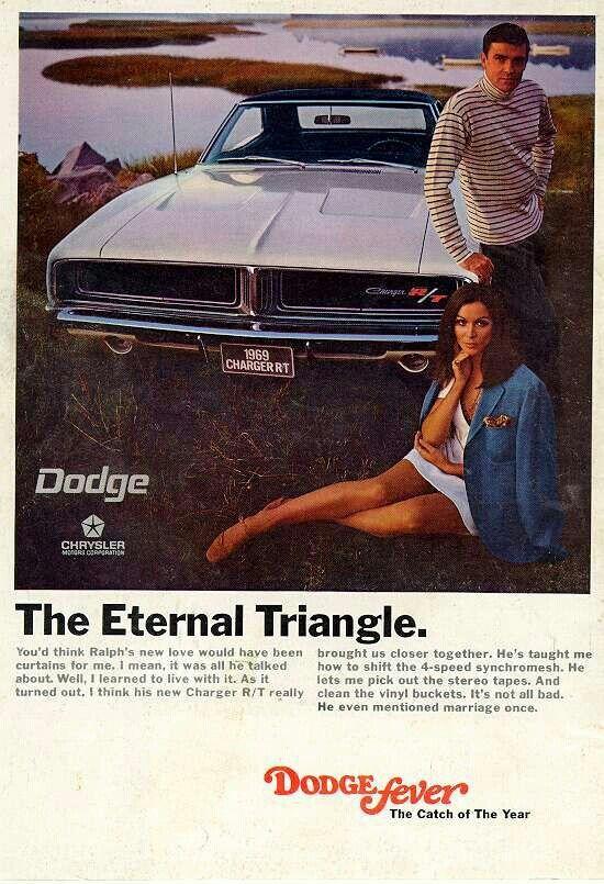Propaganda original da época do lançamento do Dodge Charger