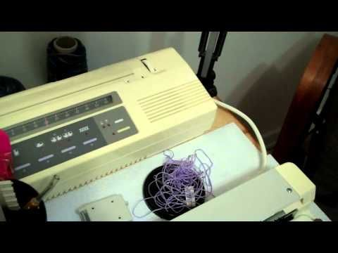 Studio/Silver Reed Electronic Card Reader - YouTube