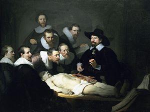 """""""Lección de Autonomía"""" realizado en 1632 por el pintor neerlandés Rembrant."""