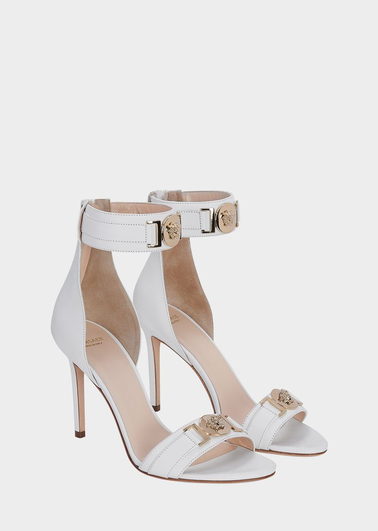 Versace MEDUSA HIGH HEEL SANDALS for Women | US Online Store. MEDUSA HIGH HEEL SANDALS from Versace Women's Collection. Slip into these sandals to complete a flawless look at your next cocktail party. Features a back zip closure and Medusa Head accents.