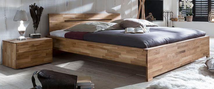 SAVA Doppelbett Bett 180 x 200 Eiche Wildeiche massiv geölt Woodlive (Betten) - Möbel günstig kaufen
