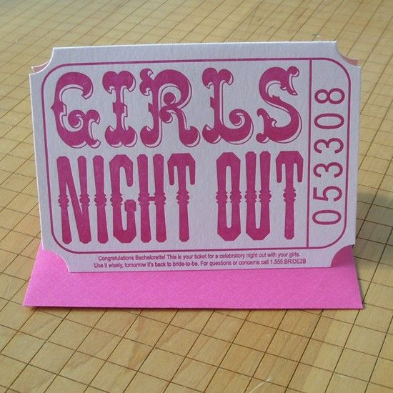 Cute Hen Night or Bachelorette idea for invites... Who would your DREAM guest be for your Girls Night Out?! xx