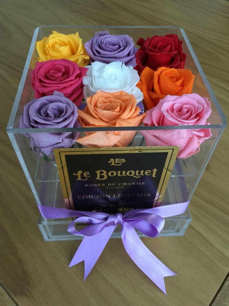 Presentación de 9 rosas estándar que duran 1 año Le Bouquet