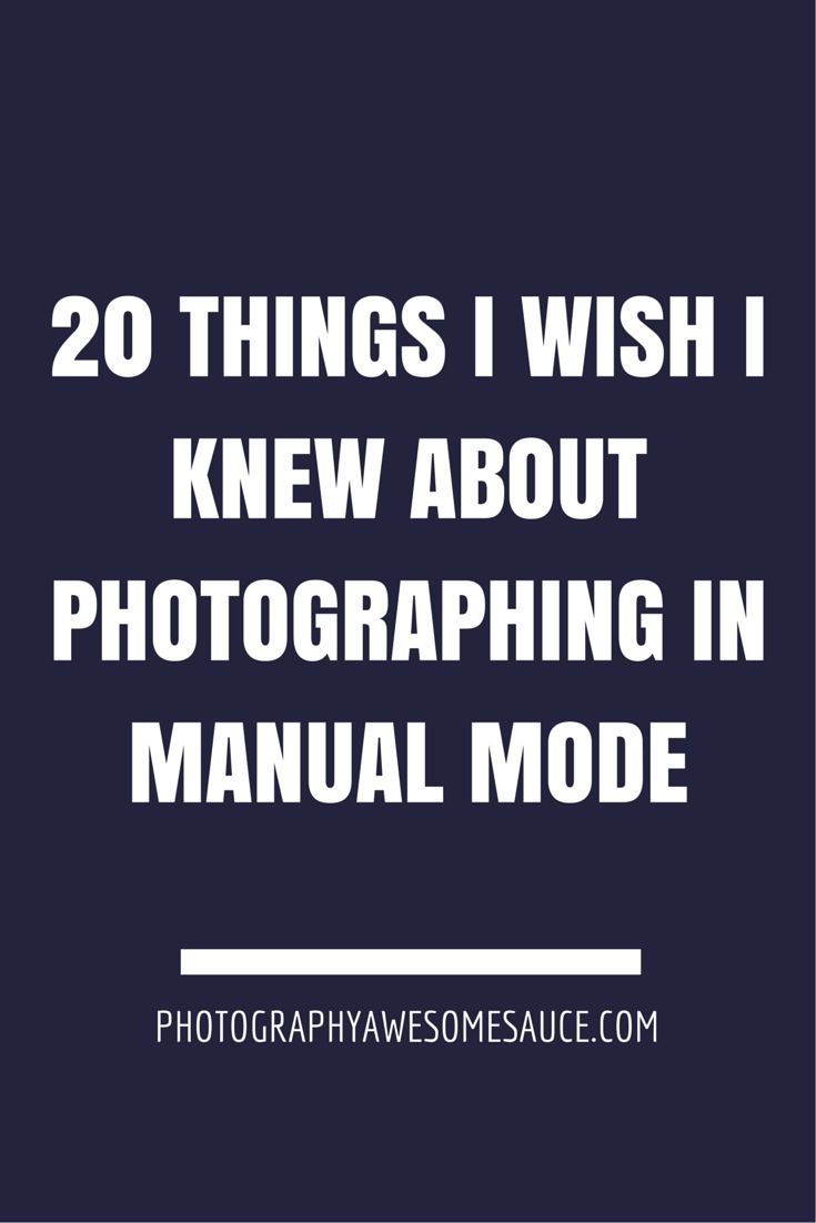 Manual mode is all about learning to have control over your camera instead of letting it control you.
