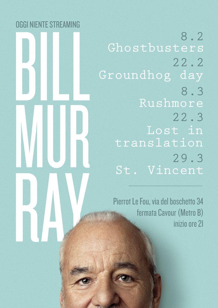 Silvia Clo Di Gregorio & Giovanni Nava Bill Murray retrospective cineclub programm