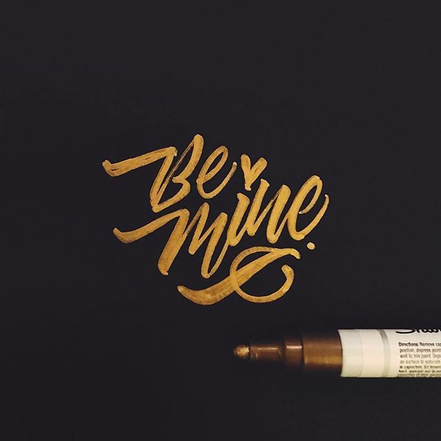 Be mine by @jexpo76 - Daily typography & lettering design love ❤️ - typostrate - typostrate.com