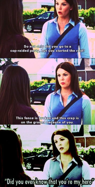 Haha funny Gilmore Girls quote!  Free Pinterest E-book (Get loads of followers)  http://pinterestperfection.gr8.com