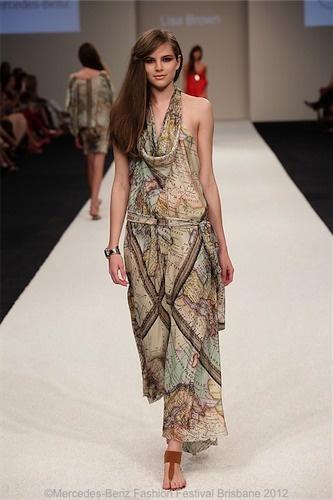OLIVE Map Dress #SS12-13 @byLisaBrown