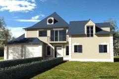 Modèle de 250 m² habitables - 8 pièces dont 5 chambres #plan #maison #immobilier #diogo