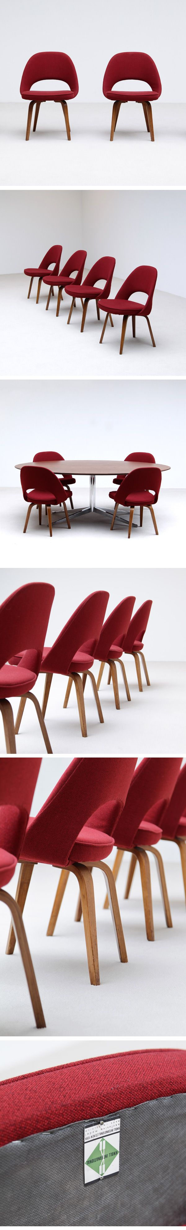Knoll life chair geek - Early Saarinen For Knoll Dining Chairs Set Of Four Dining Chairs By Eero Saarinen For Knoll