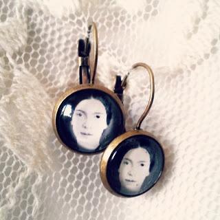 Emily Dickinson earrings
