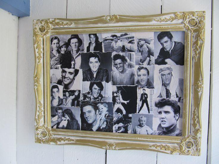 Elvis-kollaasi huussissa