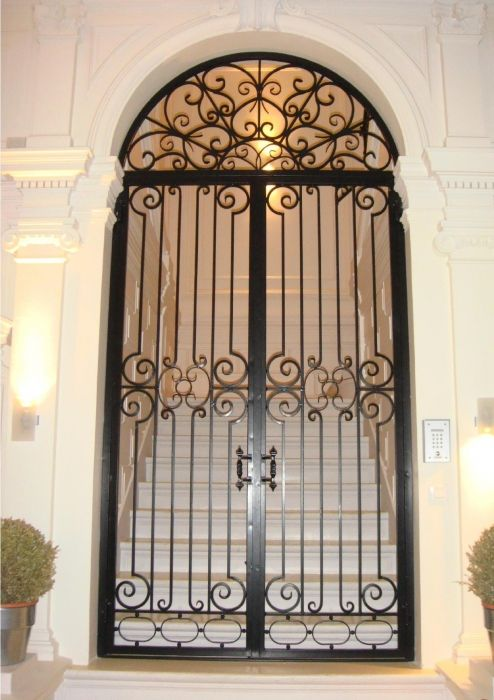 1000 images about wrought iron doors windows and gates for Porte exterieur fer forge tunisie