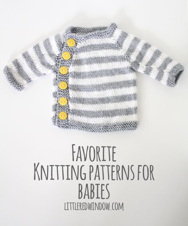 If you like to knit for babies, you'll love these sweater patterns!