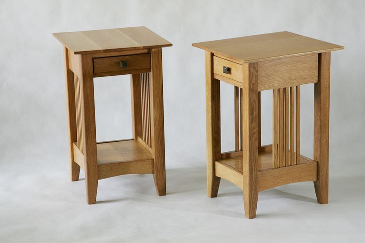 Wooden Bedside Table With Single Drawer Storage