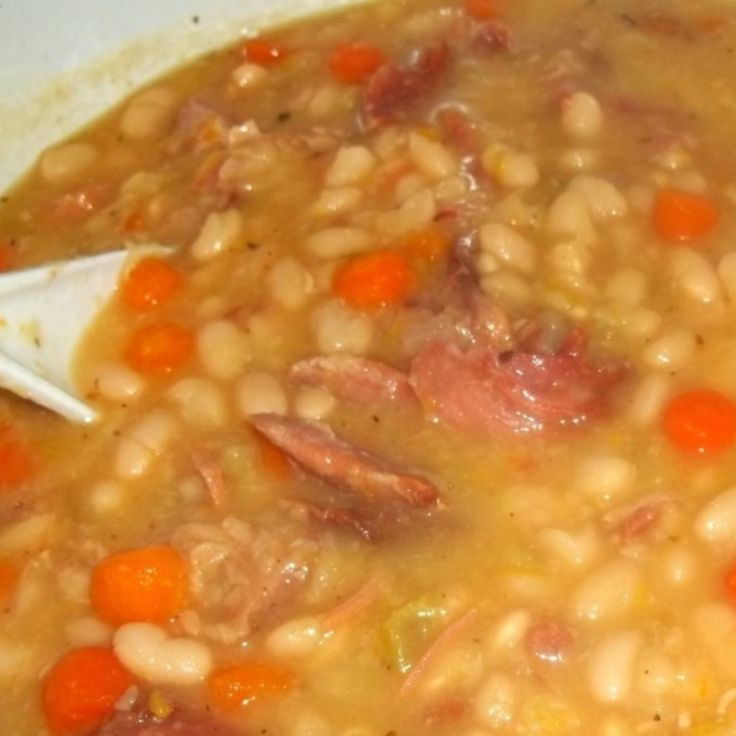 Navy Bean N Ham Soup Recipe | Just A Pinch Recipes