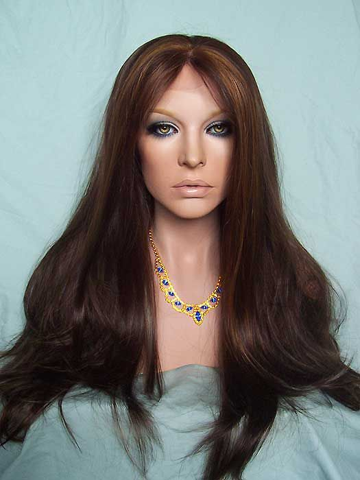 Fashion Layered Lace Front wig. Color: #6/12/24 highlighted. 20inch