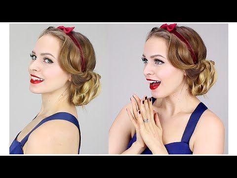 Easy Snow White Updo - YouTube
