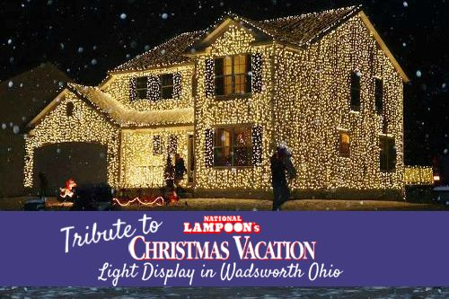 Tribute to National Lampoon's Christmas Vacation Light Display in Wadsworth Ohio