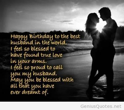 Happy Birthday To The Best Husband Around The World