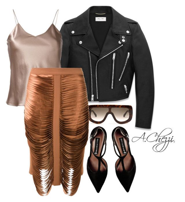 """Untitled #230"" by alyssachezzi on Polyvore featuring Yves Saint Laurent, CÉLINE, Etro, Dion Lee and Steve Madden"