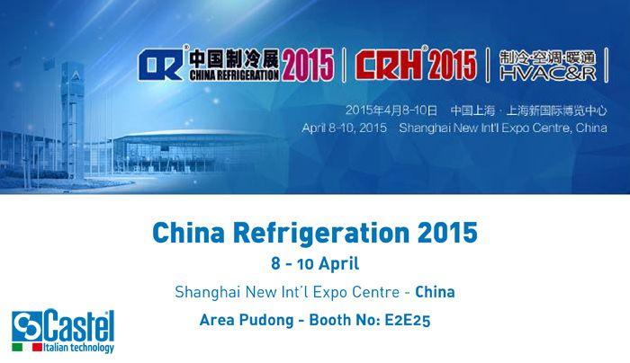 China Refrigeration 2015, #China #Shanghai #refrigeration #airconditioning #Aprile2015 #riscaldamento #ventilazione #fair #Castel #stand #ChinaRefrigeration