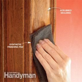 Staining wood tips ~ roughen the old finish and other valuable information
