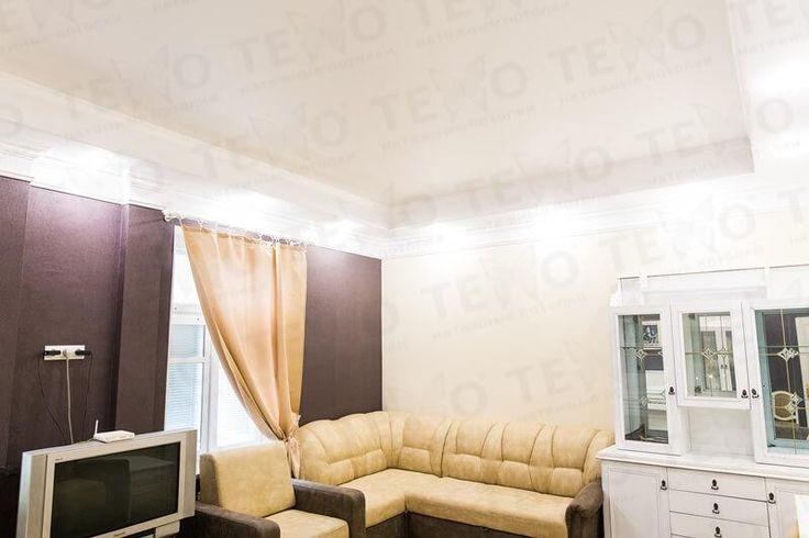 Натяжные потолки Техо. Белый классический матовый натяжной потолок в гипсокартоне в Гродно #Grodno #Belarus #Texo #Design #Ceilings