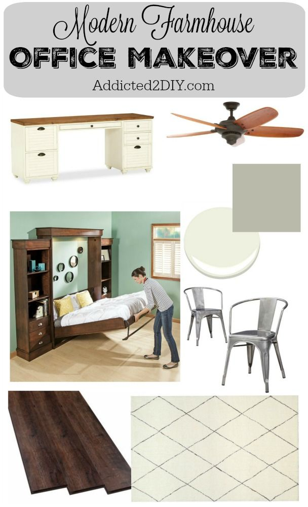Modern Farmhouse Office Makeover - Part 1 (The Plans)